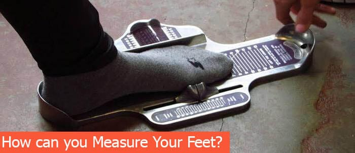 how can you measure your feet
