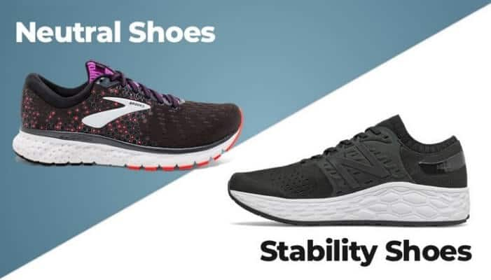 difference between nautral and stability shoes