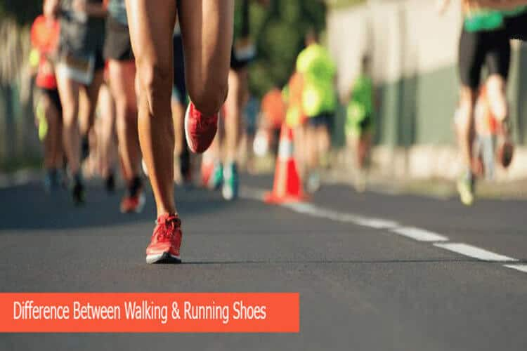 differnce between walking and running shoes