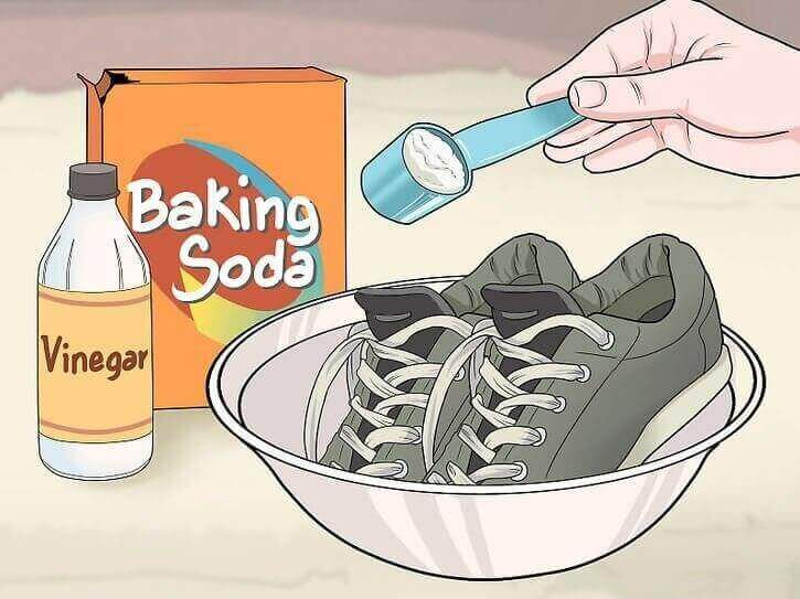 clean shoes with baking soda