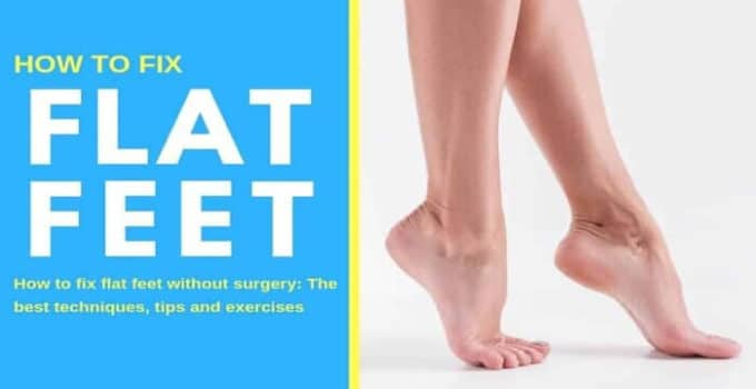 Exercise for flat feet or fallen arches