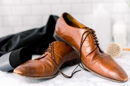 Remove Dry Paint from Leather shoes
