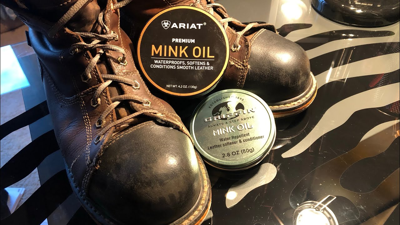 Is mink oil good for leather boots