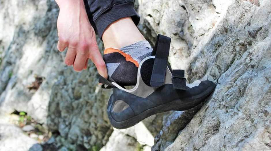 Why climbers should not wear socks